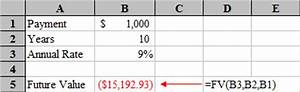 microsoft excel time value function tutorial annuities With future value excel template