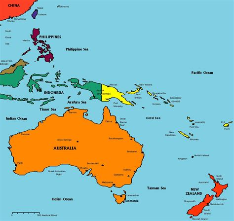 freightbrain international  australia oceania map