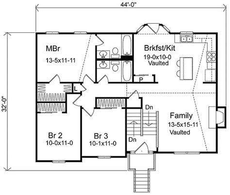 split level home plans split level house plans plan w22003sl narrow lot split