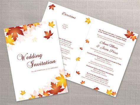 Diy Printable Wedding Folded Invitation Card Template