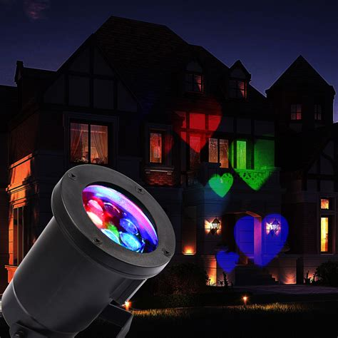 led projection lights led outdoor landscape backgroud house garden laser