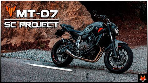 yamaha mt 07 sc project yamaha mt 07 fz 07 sc project conic sound acceleration fly by
