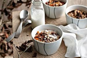 chocolate muesli with warm milk recipes delicious au