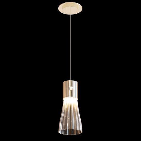 modern gold leaf murano glass pendant light