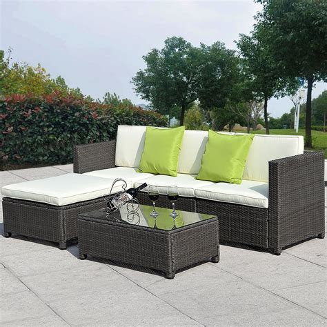 outdoor wicker sectional sofa set 5pc outdoor patio sofa set sectional furniture pe wicker