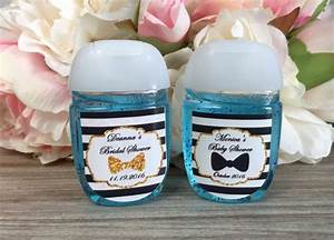 little man hand sanitizer labels bow tie baby shower With hand sanitizer bridal shower favors
