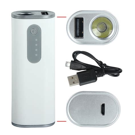 Flashlight Mobile Phone by Battery Portable Mini 2600mah Power Bank Mobile Phone