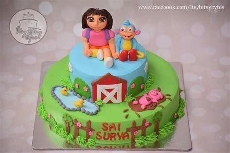 This is a unique way to wish someone a birthday. Dora the explorer cake - cake by Divya Haldipur - CakesDecor