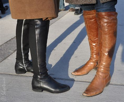 Toronto Street Style Fashion Camel Fur Leather Boots