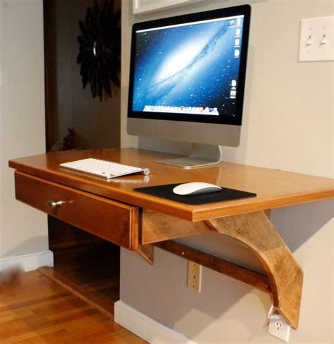 computer desk wood studio designs wooden wall mounted computer desk diy with imac and