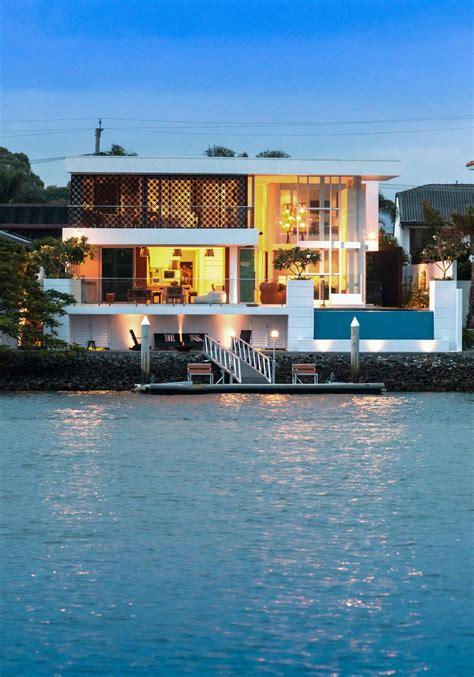 stunning waterfront home  queensland australia