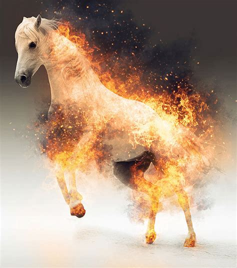 dazzling fire water effect photoshop actions pixel curse