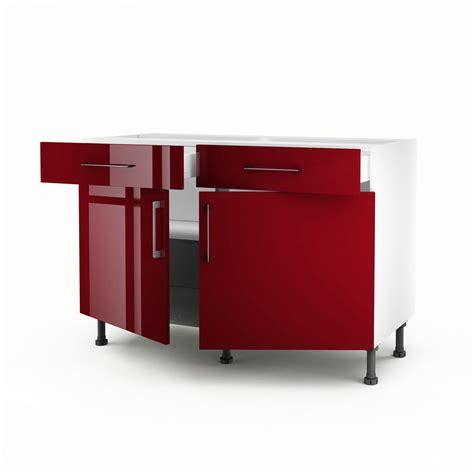 meuble bas pour cuisine meuble de cuisine bas 2 portes 2 tiroirs griotte h