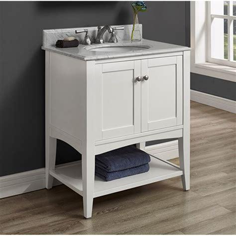 bathroom vanity with shelf fairmont designs shaker americana 30 quot vanity open shelf