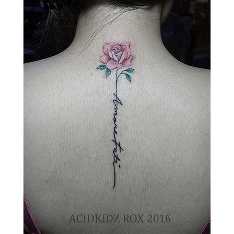 Flower Tattoos Down Spine