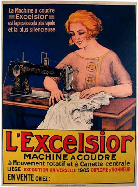 antique french lexcelsior sewing machine vintage