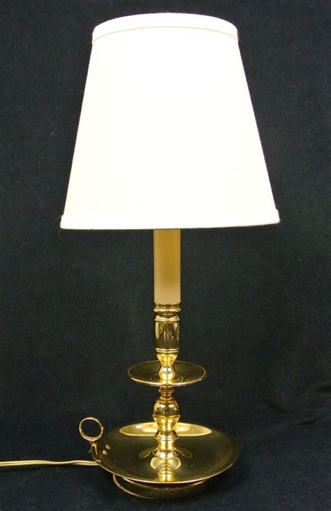 baldwin brass chamberstick table lamp wshade candlestick
