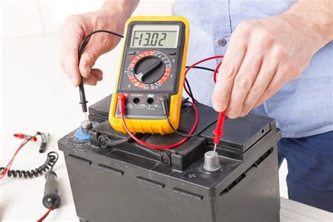 check  voltage   car battery yourmechanic advice