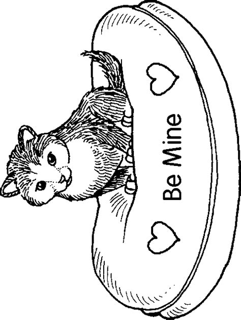 valentines day coloring pages cat valentine coloring