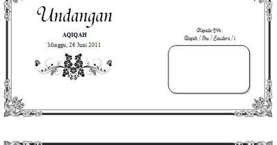 undangan aqiqah  desain gratis