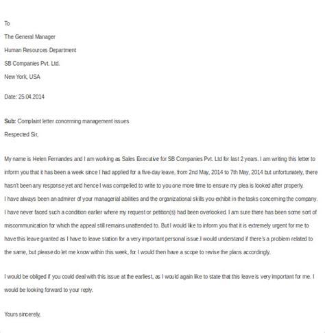 employee complaint letter templates