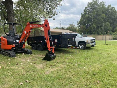 mini excavator dump trailer kubota bigtex  sale  houston tx offerup