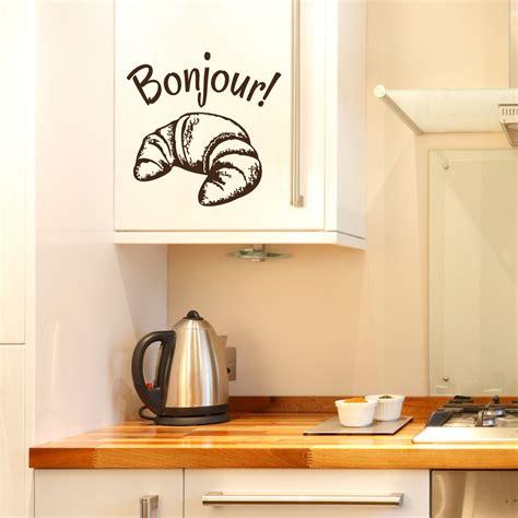 stickers pour la cuisine stickers muraux pour la cuisine sticker bonjour