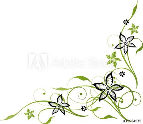 Blumenranke Grün Horizontal by Ranke Mit Blumen Schwarz Gr 252 N Gr 252 Nt 246 Ne Kaufen Sie