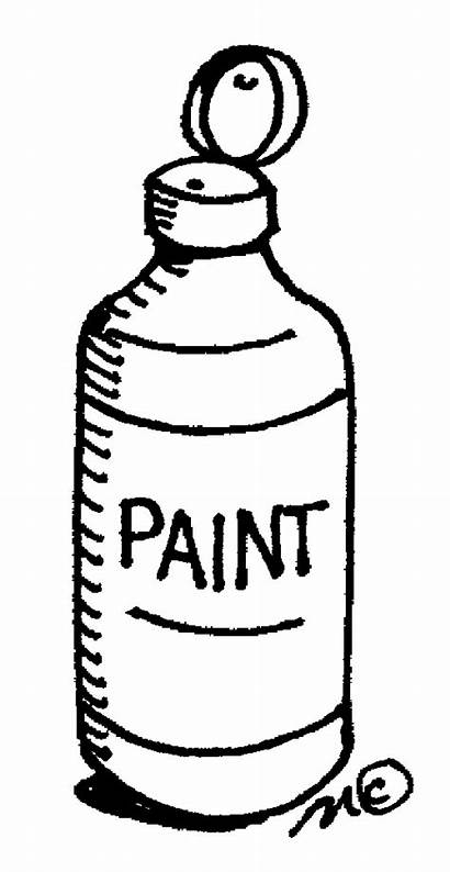 Paint Bottle Clipart Clip Supplies Painting Acrylic