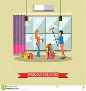 Cleaning Service Concept Vector Illustration In Flat Style ...