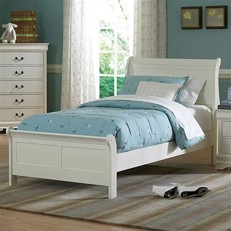 Bed Size by Size Bed In Soft White Choose Your Size Sleigh