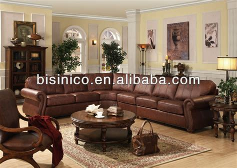 american style living room leather corner sofa genuine