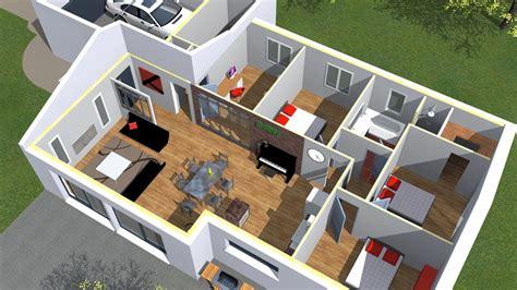 plan en 3d cuisine plan de maison 3d onetosix