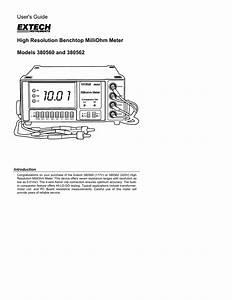 Extech 380560 Milliohm Meter Manual Pdf