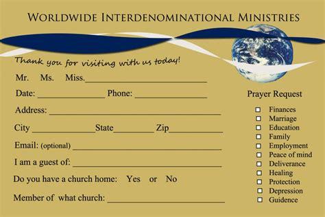 church visitor card template 8 church connection card templates