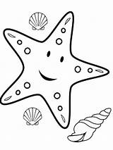 Starfish Coloring Pages Animal sketch template