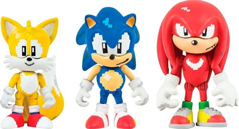 Sonic the Hedgehog Classic 16 Bit Pixel 3 Inch Figure 3 ...