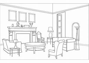 Pics for gt dining room coloring for Living room coloring