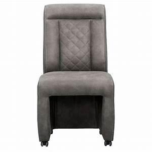 Chaise Tissu Salle A Manger : chaise de salle manger christian tissu gris ~ Dallasstarsshop.com Idées de Décoration