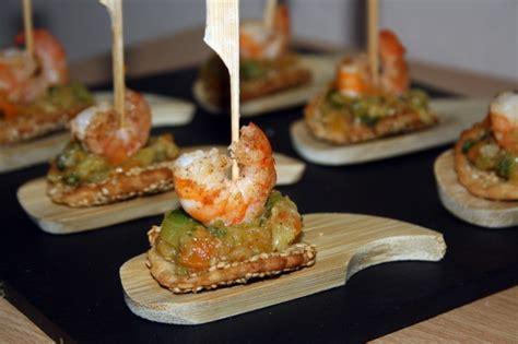 cuisine gastronomique amuse bouche aux crevettes