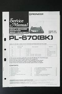 Pioneer Pl Service Manual