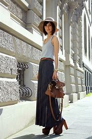 Long Maxi Skirt with Boots