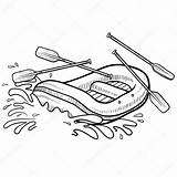 Rafting Whitewater Drawing Sketch Raft Illustration Adventure Action Vector Coloring Lhfgraphics Getdrawings Swimming Doodle 출처 sketch template
