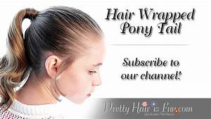 Pretty Hair is Fun: How to do a Hair Wrapped Ponytail ...