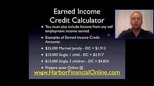 2012 2013 Earned Income Credit Calculator Youtube