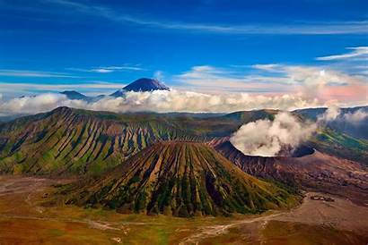 Indonesia Landscape Nature Volcano Wallup Clouds Wallpapers