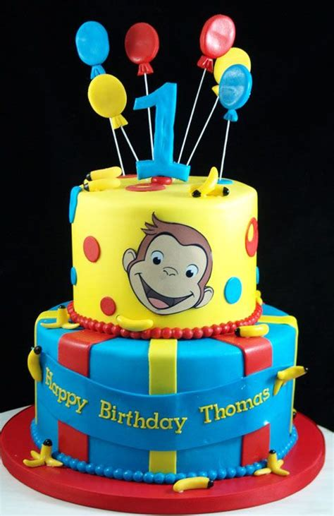 curious george st birthday cake party ideas