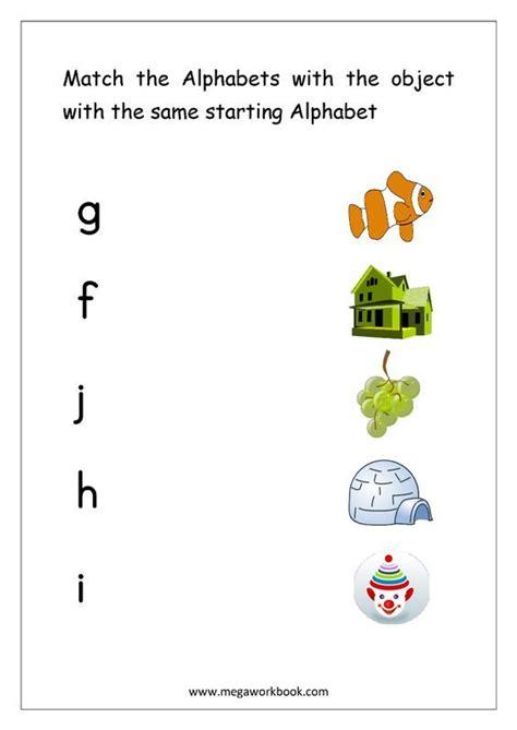 alphabet matching worksheets match object