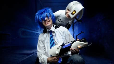 Wheatley And Glados Cosplay Portal 2 By Tenori Tiger On