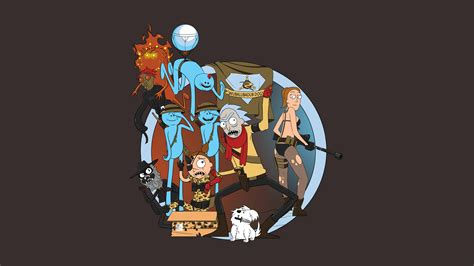 Rick And Morty Mr Meeseeks Wallpaper I Made A Rick And Morty Metal Gear Mash Up Gaming